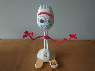 "Disney Pixar Toy Story 4 True Talkers Forky Figure 7.2"" Tall"