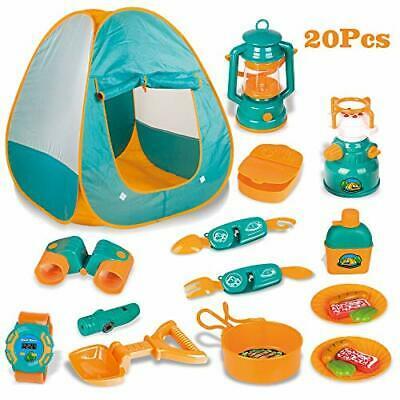 Childrens Camping Tent Set Wilderness Adventure Pretend Food