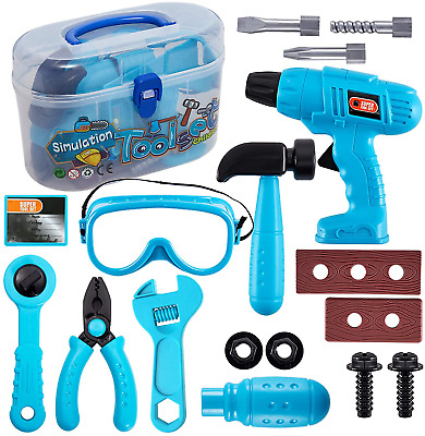 HERSITY Kids Role Play Tool Set Construction Kit with Carry