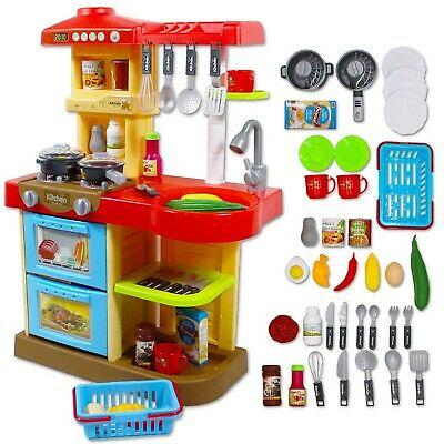 deAO KC2-R Little Chef' Kitchen Play Set with 30