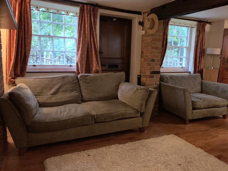 FREE for collection - 2 seater and 1 seater sofas. Good