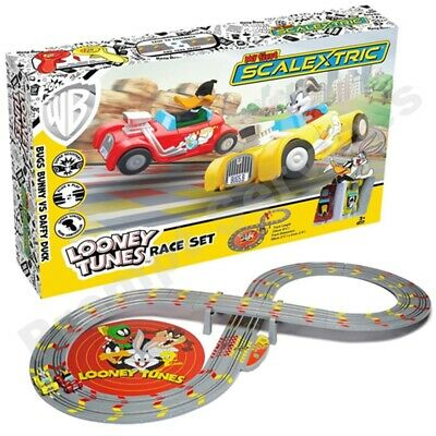 Looney Tunes My First Scalextric Race Track Set Powered Slot