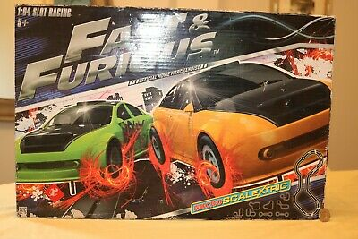 MICRO SCALEXTRIC FAST AND FURIOUS SLOT RACING SET.BOXED