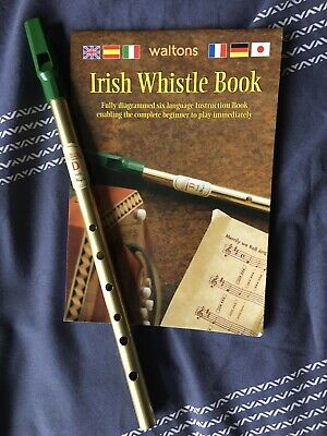 Waltons D Tin Penny Folk Irish Whistle and Book... No CD.