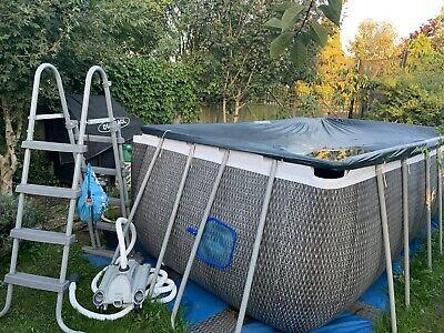 Bestway Power Steel Ratan Look Pool, Upgraded Intex Pump,