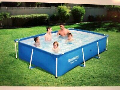 Bestway Steel Pro Swimming Pool 259x170x61 cm - Blue ()