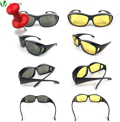 VOUNOT Anti Glare Glasses for Night and Day Lens Color Black