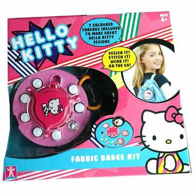 Hello Kitty Fashion to Go Fabric Badge Maker Sewing Kit
