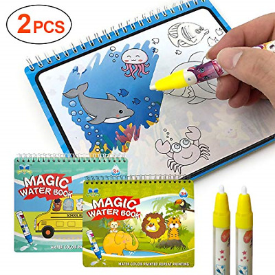 Magic Water Coloring Book 2 pcs, Gifts for Kids, LISOPO