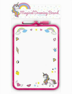 Unicorn Magical White Drawing Board with Pen Girls Kids Home