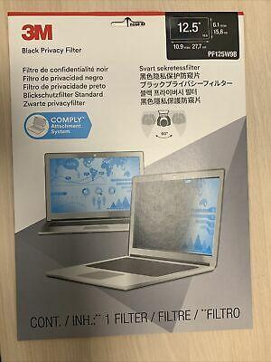 3M PF125W9B Privacy Filter for 12.5 in Widescreen Laptop