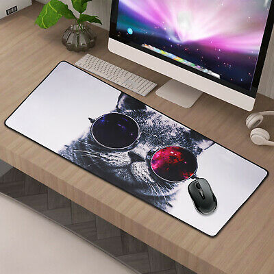 90x40CM EXTRA LARGE Cute Cat GAMING MOUSE PAD MAT FOR PC