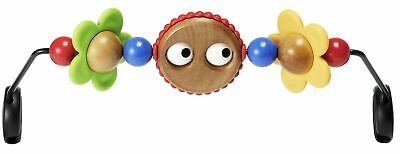 baby Wooden Toy for Bouncer, Googly eyes. Toy bar for