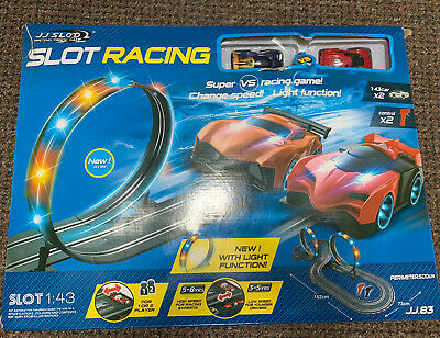 Large Remote Control Light Up - JJ Slot Car Racing Track Set
