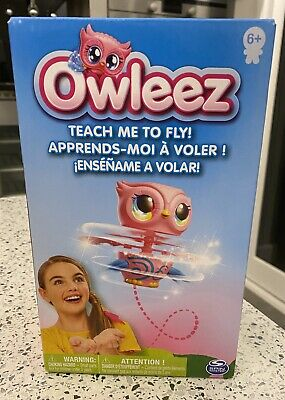 Owleez Flying Baby Owl Interactive Toy - Pink Brand New In