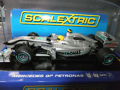 Scalextric Slot Car C Mercedes GP Petronas N. Rosberg