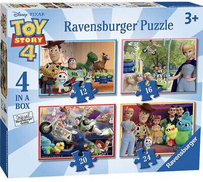 Toy Story 4 Jigsaw Puzzle - 4 Puzzles in a Box