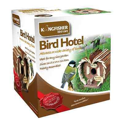 BIRD HOTEL HOUSE HANGING WOODEN NESTING BOX STATION LOVE