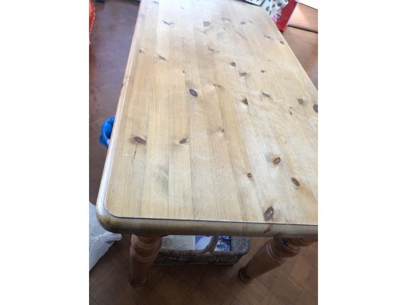 "Pine Coffee/craft table. 48"" X 25"" X 24"" high. Calls"