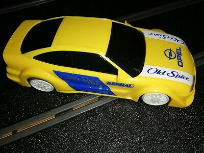 Classic Scalextric Yellow Opel Calibra In Good Condition Old