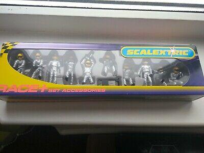 Scalextric Race + Accessories set C Silver Pit Team /
