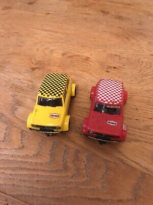 VINTAGE SCALEXTRIC MINI  GT C122 RALLY CARS x 2 (RED AND