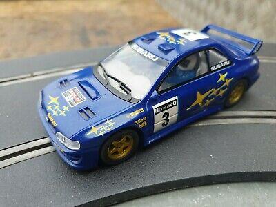 Vintage Scalextric 1:32 Slot Car - Subaru Impreza WRC