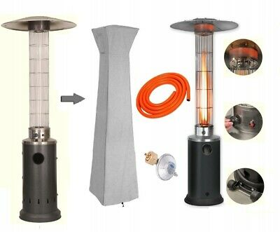 Portable Patio Heater Gas Glass Tube 13KW Stainless Steel