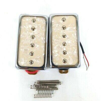 A Set of 2 White Pearl Electric Guitar Single Coil
