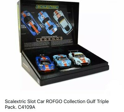 CA Scalextric Slot Car 1:32 Rofgo Collection Gulf Triple