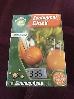 ECO SCIENCE ~ ECOLOGICAL CLOCK 10 Experiments Age 8+ NEW