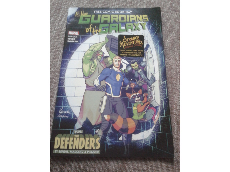 GUARDIANS OF THE GALAXY PLUS THE DEFENDERS-FREE COMIC BOOK