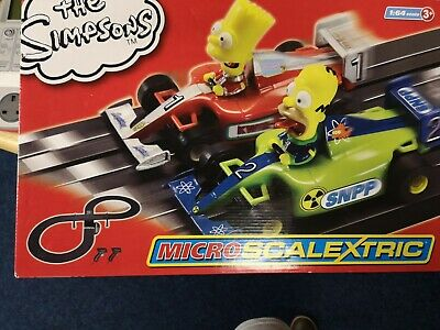 Hornby Micro Scalextric The Simpsons Racing Set Race Track