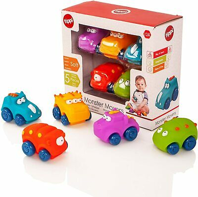 Tippi Monster Movers Soft Play Baby Toy Cars - Car Set For 1