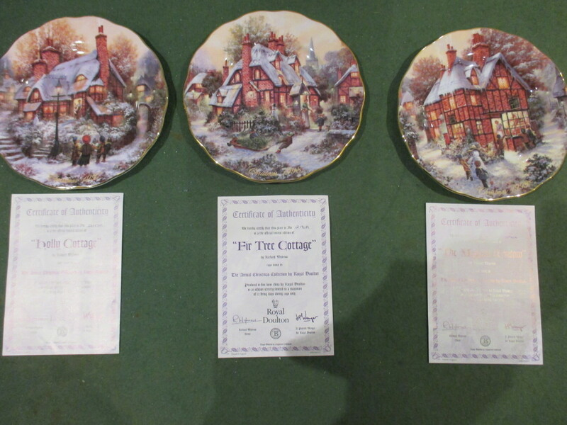 Set of 8 Royal Doulton Annual Christmas Collector's Plates