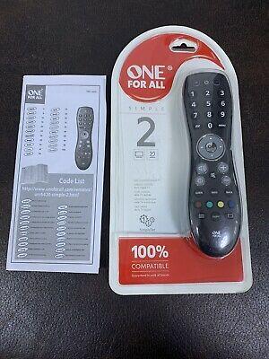 One For All 2 in 1 Universal Remote Control│Contro l TV &