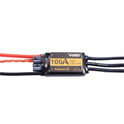 VGOOD 100A 2-6S 32-Bit Brushless ESC with 5A SBEC for Fixed