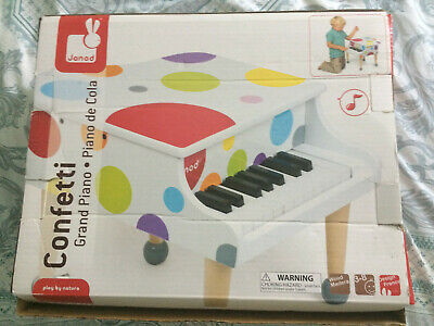 Janod Confetti Grand Piano Toy Musical Instrument Crafted