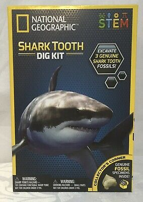 New National Geographic Shark Tooth Dig Kit STEM Educational