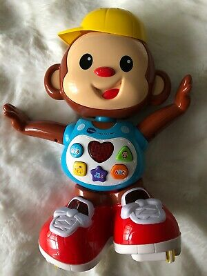 "VTech ""Chase Me Casey"" Toy Rollerskating Monkey Interactive"