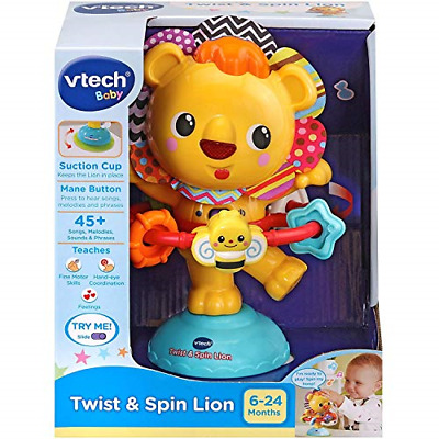 VTech Twist and Spin Lion, Baby Music Toy for Sensory Play,