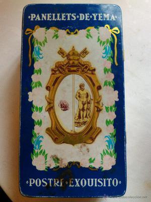 ANTIGUA CAJA HOJALATA J. Y A. GILABERT PADRENY pasteleria