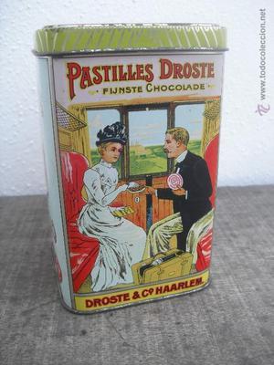 Antigua caja de chocolates. Pastilles-Droste. Fijnste