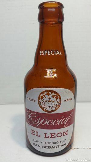 Botella de Cerveza El León 20cl con premios hasta  por