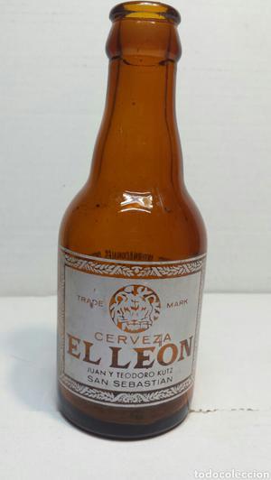 Botella de Cerveza El León 20cl trasera premios hasta