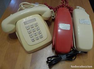 LOTE ANTIGUOS TELEFONOS HERALDO GONDOLA CITESA MALAGA AÑOS
