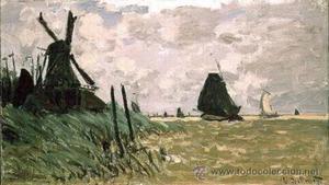 Monet, Explendida replica al óleo sobre tela.