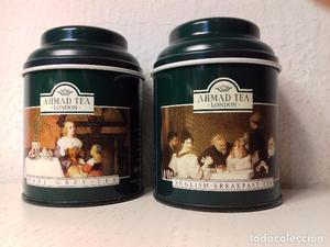 lote 2 latas de té inglesas AHMAD TEA