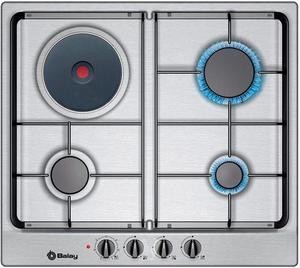Placa de gas encimera madrid posot class for Placas de cocina mixtas