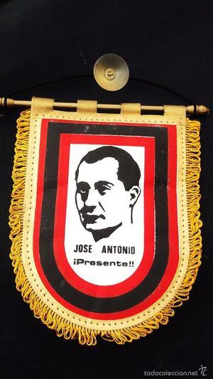 ANTIGUO BANDERIN DE JOSE ANTONIO PRIMO DE RIVERA,FALANGE